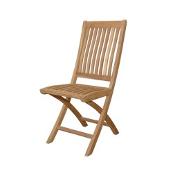 Teak Folding Dining Chair Set