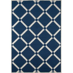 Baja Nautical Rope Navy Indoor / Outdoor High Performance Rug