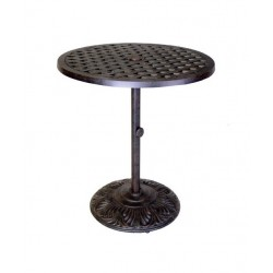 "Basket Weave 30"" Round Pedestal Bar Table"