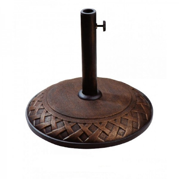 Umbrella Base with Basket Weave Decorative Concrete 55lbs