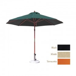 Outdoor Round 9' Umbrella with Wood Pole