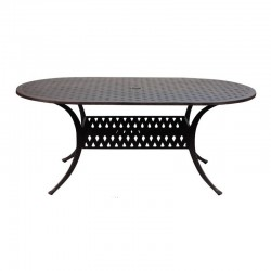 """72"""" Oval Basket Weave Dining Table"""