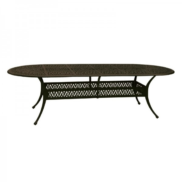 """102"""" Oval Floral Dining Table"""