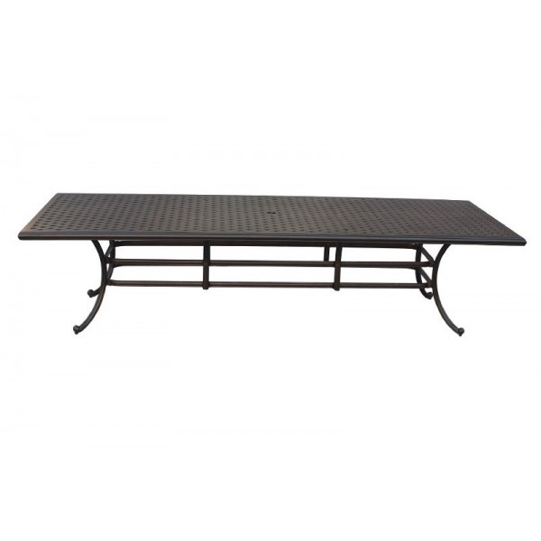 """120"""" Rectangle Basket Weave Dining Table"""
