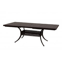 """60"""" Rectangle Basket Weave Dining Table with Extension to 84"""""""