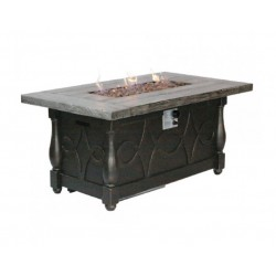 Gas Fire Pit Chat Table with Stone Top