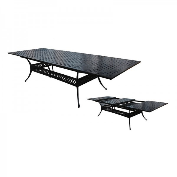 """84"""" Rectangle Basket Weave Dining Table with Extension to 127"""""""