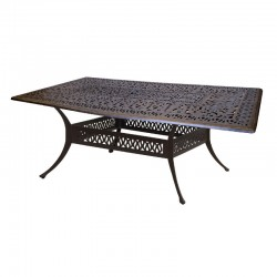 """84"""" Rectangle Floral Dining Table"""