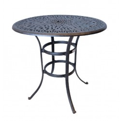 """Floral 42"""" Round Bar Table"""