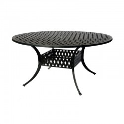"60"" Round Basket Weave Dining Table"