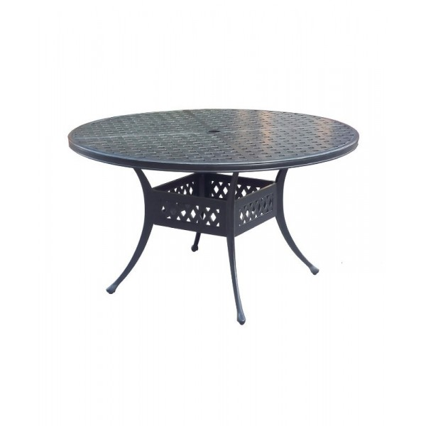 """45"""" Round Basket Weave Dining Table"""