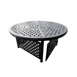 New Providence Round Gas Fire Pit Chat Table