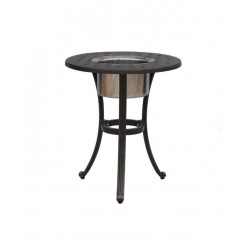 Basket Weave Round Ice Bucket Side Table