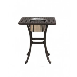Basket Weave Square Ice Bucket Side Table