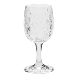 Satin Pearl Clear 8oz Acrylic Wine Glass - Set of 6