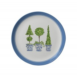 Topiary Trellis Melamine Salad Plate - Set of 6