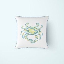 Neon & Carolina Blue King Crab Pillow by Sewing Down South