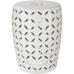Chantilly Ivory Ceramic Accent Garden Stool