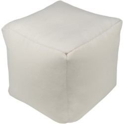 Essien Cream Outdoor Pouf
