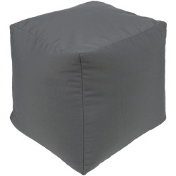 Essien Gray Outdoor Pouf