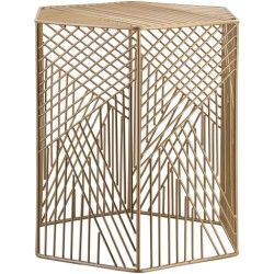 Linear Gold Side Table