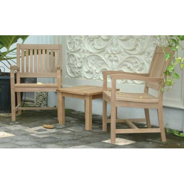 Teak 3 Piece Chat Set