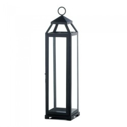 Contemporary Black Candle Lantern - Extra Large Tall
