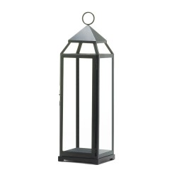 Contemporary Black Candle Lantern - Over-sized