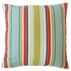 Waldhar Blue Striped Indoor / Outdoor Throw Pillow